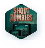 Shoot zombies game